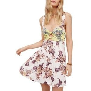 NWT Free People Mini Dress Baby It's You Floral L